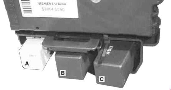 Smart City Coupe - fuse box diagram - relay