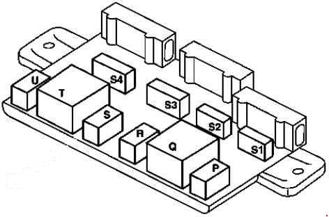Smart City Coupe - fuse box diagram - under carpet (under left seat)