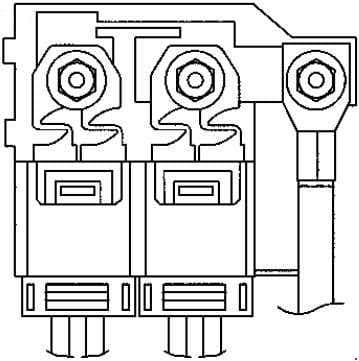 Smart Fortwo - fuse box diagram - battery clamp fuse (F108)