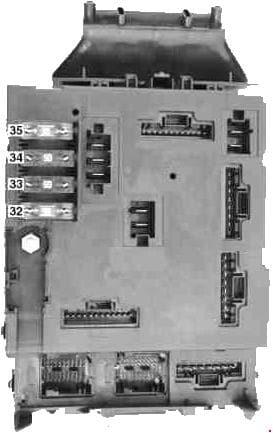 Smart Fortwo - fuse box diagram - rear