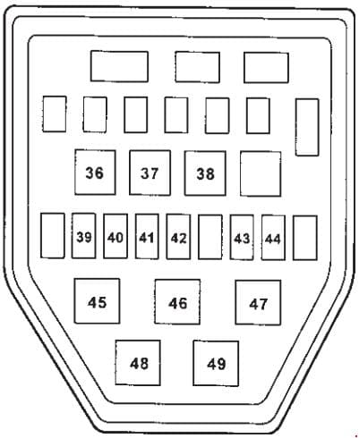 SsangYoung Musso - fuse box diagram - engine compartment