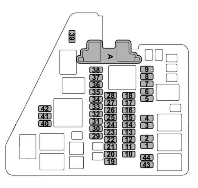 Subaru Ascent - fuse box diagram - engine compartment