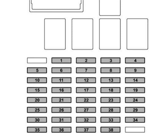Subaru Ascent - fuse box diagram - passenger compartment