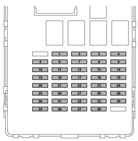 Subaru Crosstrek - fuse box diagram - instrument panel