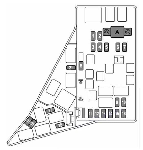 Subaru WRX - fuse box diagram - engine compartment ( STI)
