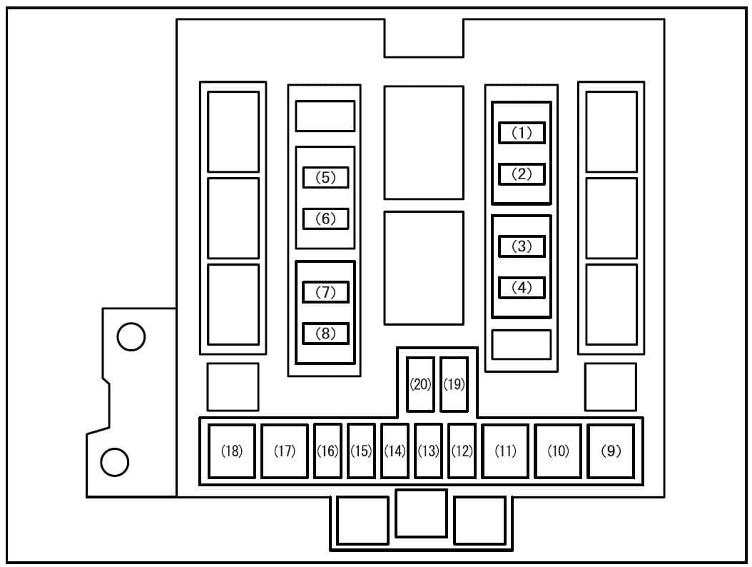 Suzuki Grand Vitara - fuse box diagram - main fuse box