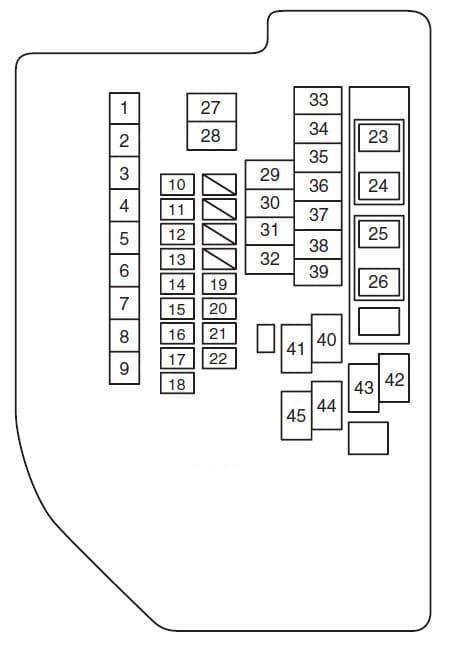 Suzuki Kizashi - fuse box diagram - engine compartment