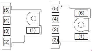 Suzuki Swift - fuse box diagram - engine compartment