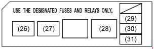 Suzuki Swift - fuse box diagram - engine compartment (diesel)