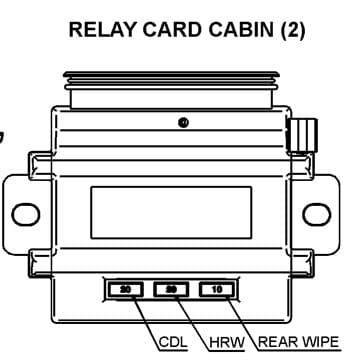 TATA Grande Turbo - fuse box diagram - cabin relay card (2)