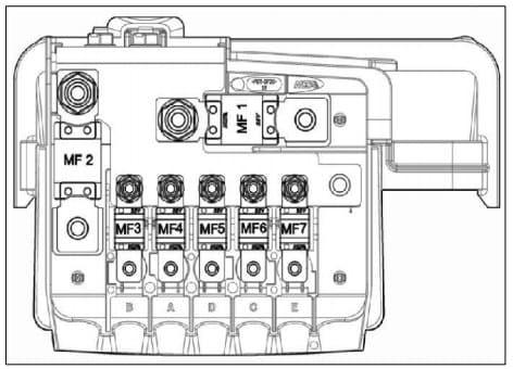 TATA Hexa - fuse box - battery