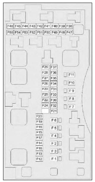 TATA Nexon - fuse box - engine compartment (diesel)