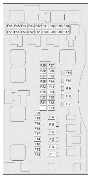 TATA Nexon - fuse box - engine compartment (petrol)