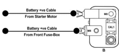 TATA Zest - fuse box -  battery