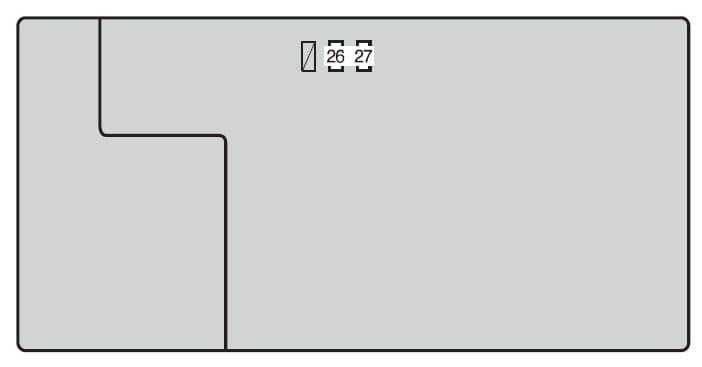 Toyota Tacoma mk2 - fuse box - engine compartment (type B)