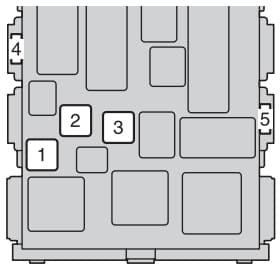Toyota Avensis mk3 FL - fuse box - passenger compartment type B
