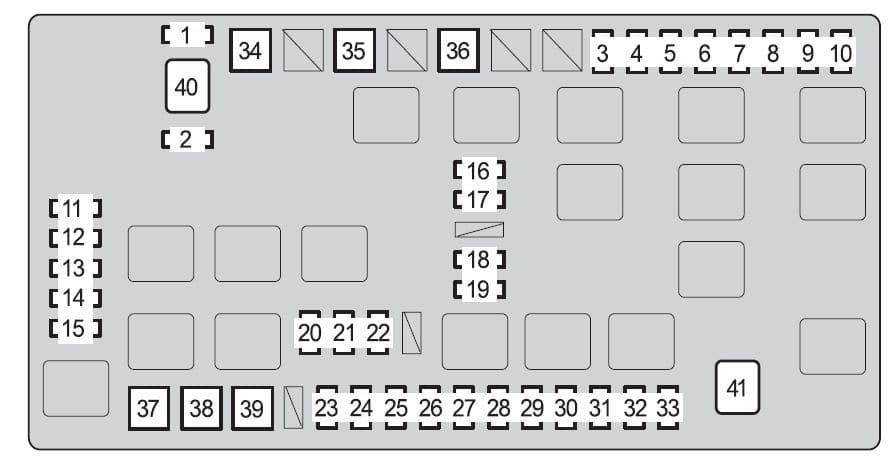 Toyota FJ Cruiser - fuse box - engine compartment (type A)