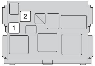 Toyota Auris mk1 - fuse box - passenger compartment type B