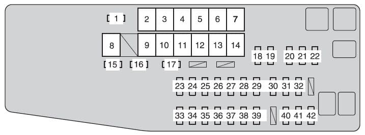 Toyota Avalon Hybrid - fuse box - engine compartment (fuse box type A)