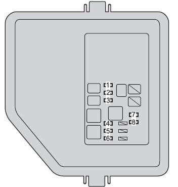 Toyota Avalon Hybrid - fuse box - engine compartment (fuse box type B)