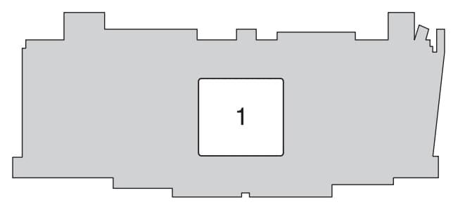 Toyota Aygo mk1 - fuse box - engine compartment (back side)
