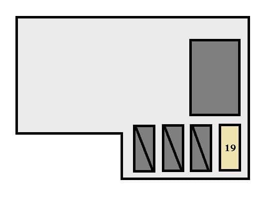 Toyota Camry - fuse box - engine compartment (California)