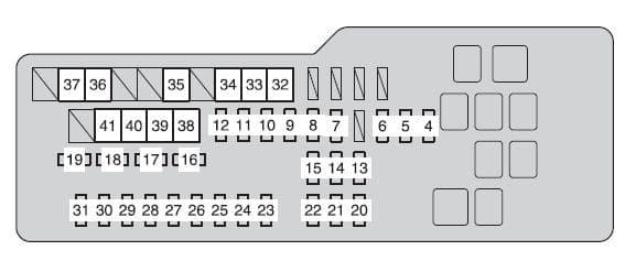 Toyota Camry Hybrid - fuse box - engine compartment (fuse block)