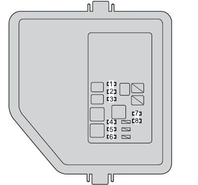 Toyota Camry Hybrid - fuse box - engine compartment (type B)