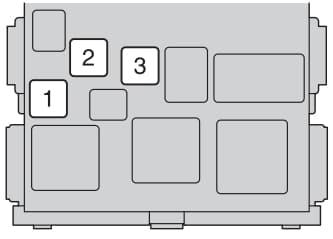 Toyota Corolla mk11 - fuse box - instrument panel - type B