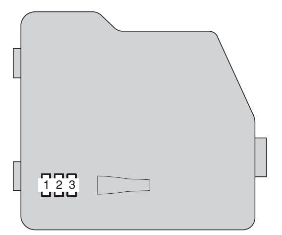 Toyota Highlander Hybrid - fuse box - engine compartment (type A - cover)