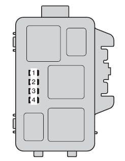 Toyota Highlander Hybrid - fuse box - engine compartment (type B)
