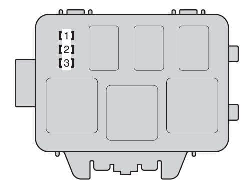 Toyota Highlander - Hybrid - fuse box - engine compartment (type B)