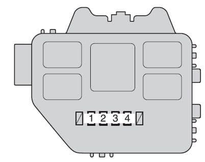 Toyota Highlander Hybrid - fuse box - engine compartment (type C)