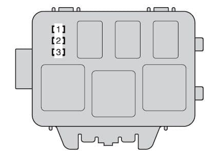 Toyota Highlander mk2 - fuse box - engine compartment (type B)