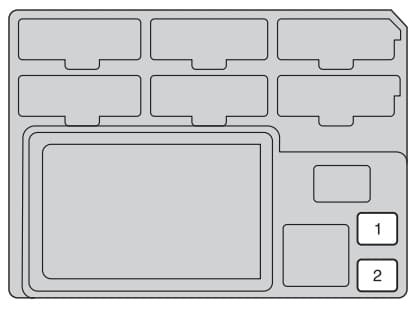 Toyota Hilux mk7 - fuse box - driver's side instrument panel (rear side)