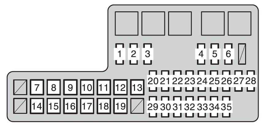 Toyota Hilux mk8 - fuse box - engine compartment