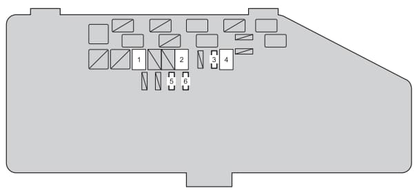 Toyota IQ - fuse box - engine compartment (type C)