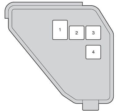Toyota Prius C - fuse box - engine compartment (type B)