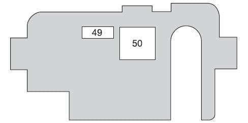Toyota Prius mk1 - fuse box - luggage compartment