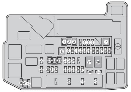 Toyota Prius mk3 - fuse box - engine compartment