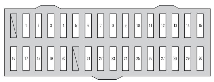 Toyota RAV4 mk4 - fuse box - under instrument panel