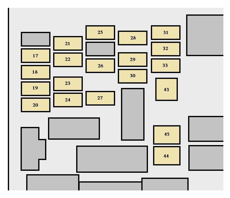 Toyota Sienna mk1 - fus box - instrument panel