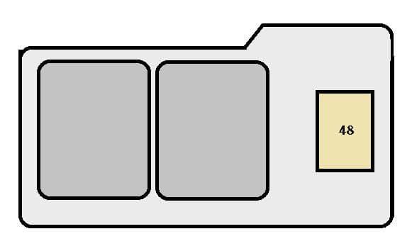 Toyota Solara mk1 - fuse box - engine compartment (type A)