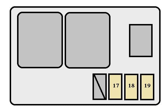 Toyota Solara mk1 - fuse box - engine compartment