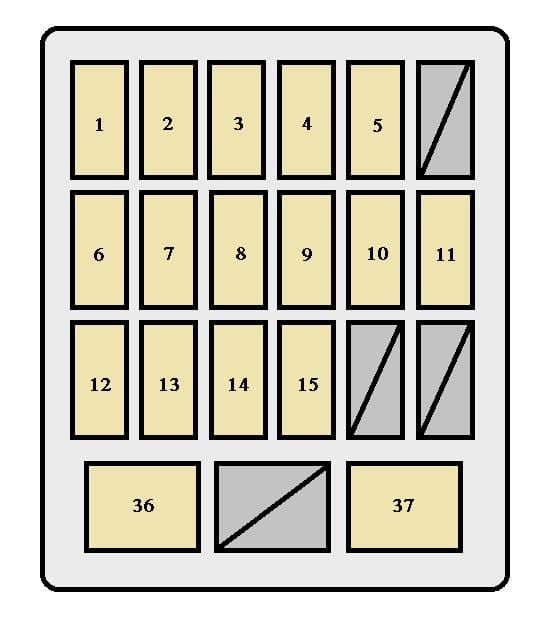 Toyota Supra mk4 - fuse box - instrument panel (Canada)
