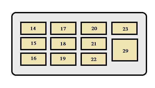 Toyota Tercel mk5 - fuse box - instrument panel