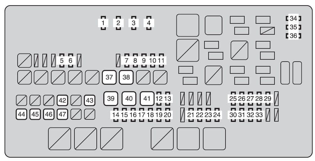 Toyota Tundra mk2 - fuse box - engine compartment
