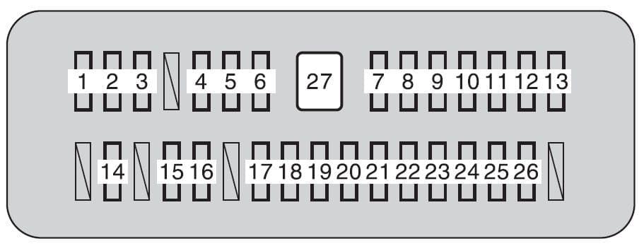 Toyota Tundra mk2 - fuse box - instrument panel