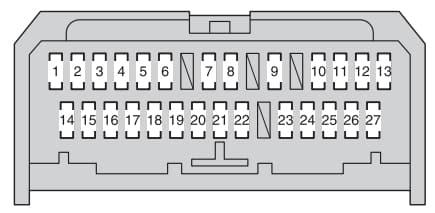 Toyota Urban Cruiser - fuse box - instrument panel (type A)