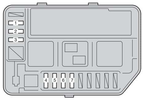 Toyota Verso S - fuse box - engine compartment (type B)